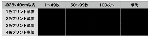 ウェアプリントL価格表