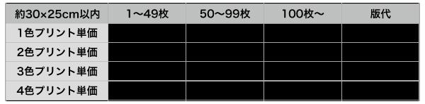 ウェアプリントM価格表